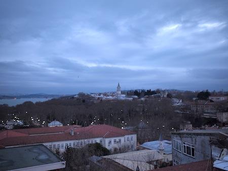 屋上からみるトプカプ宮殿