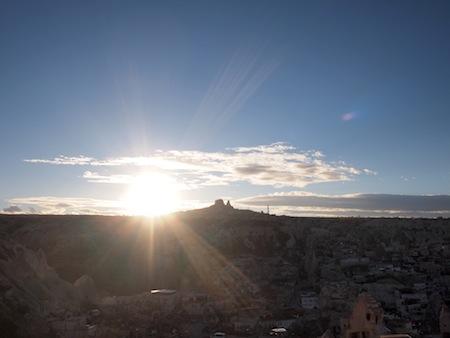 ギョレメからみた夕陽