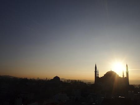 アヤソフィアの日の出