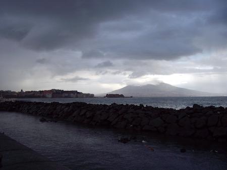 メルジェッリーナ湾の眺め