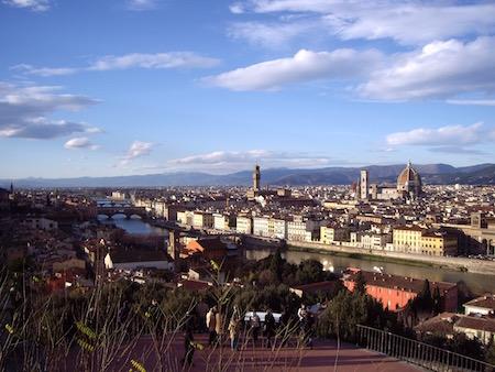 フィレンツェの街を一望