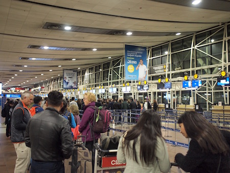 LATAM航空のカウンター