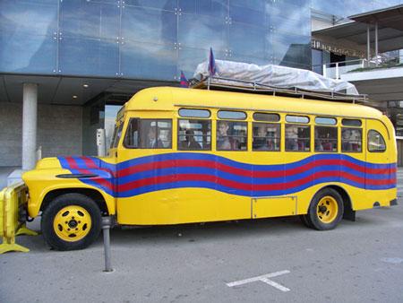 昔のバルサのバス