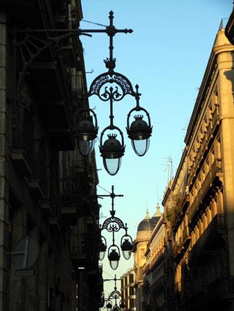 旧市街の街灯