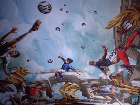 ケルン駅の天井画