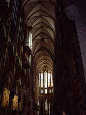 ケルンの大聖堂内部