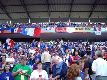 フランスのゴール裏