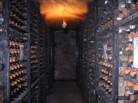 ポルトのワインセラー