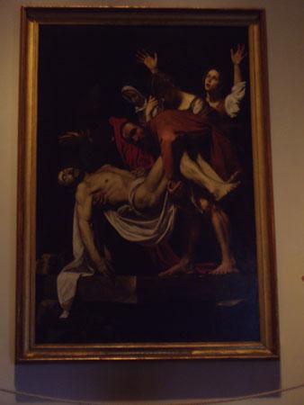 カラヴァッジョのキリストの埋葬@ヴァティカン美術館