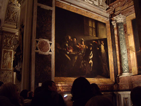 カラヴァッジョの聖マタイの召命@サン・ルイジ・デイ・フランチェージ聖堂