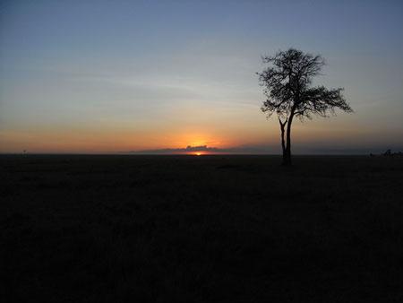 マサイマラの初日の出