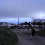 サントリーニ島の朝のお散歩