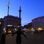 ローマで朝の散歩