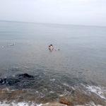 死海でぷっかり!