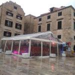 雨のドゥブロヴニク旧市街