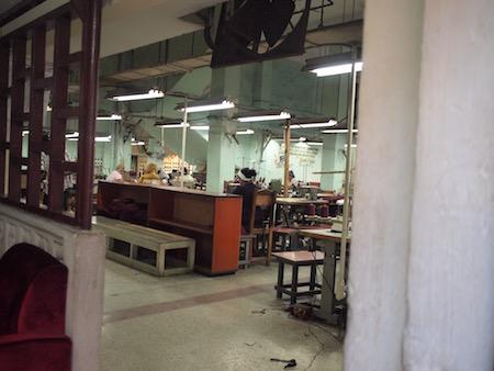 サンタ・クララの縫製工場