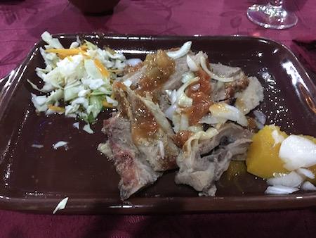 最後のディナーは肉!