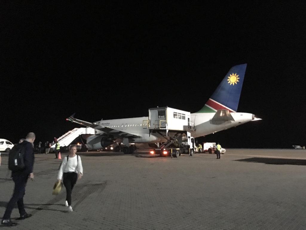 初のナミビア航空でした