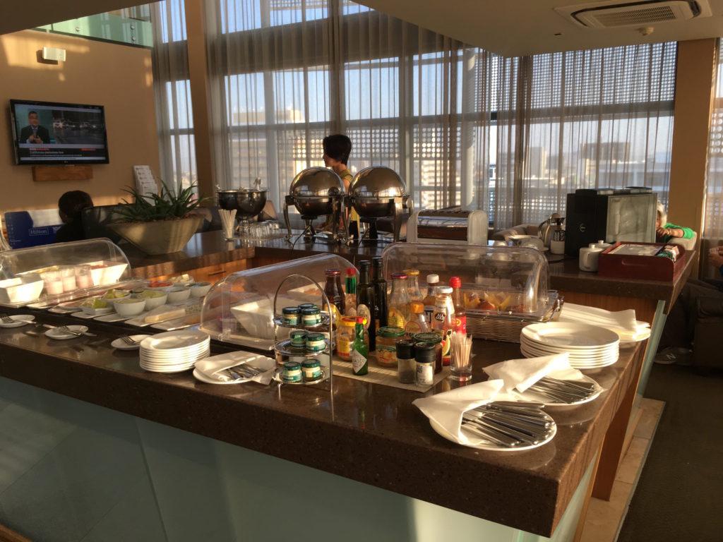 エクゼクティブラウンジの朝食会場