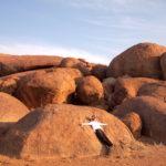 ナミブ砂漠の夕日